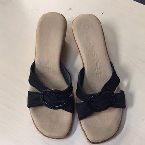 Shoes - Black wedge sandals